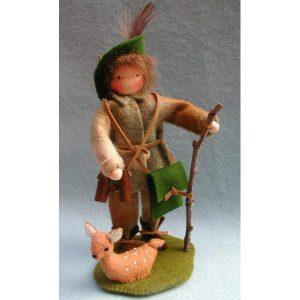 Boswachter met hert van Pippilotta