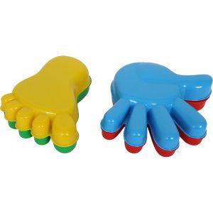 Handen en voetenset voor op het strand