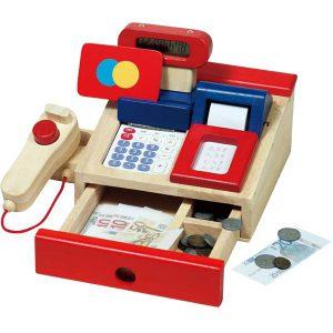 Kassa met rekenmachine