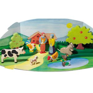Thematafel In de bergen en boerderij