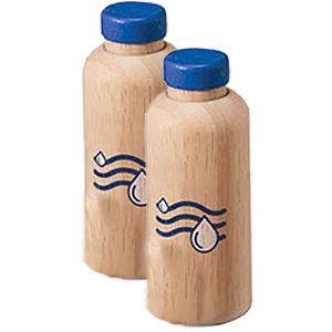 Twee flessen water